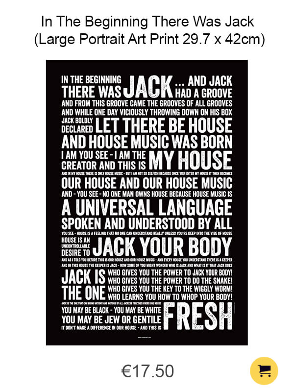 In The Beginning There Was Jack (Large Portrait Art Print 29.7 x 42cm)